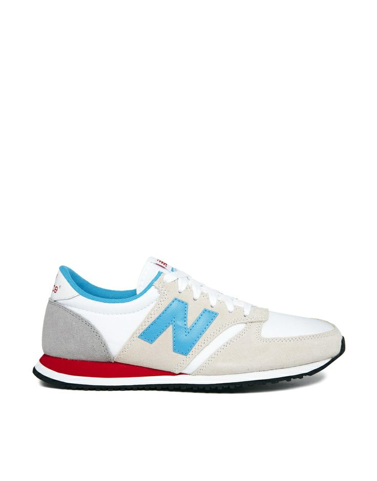 Image 1 of New Balance Off White Suede Mix 420 Sneakers