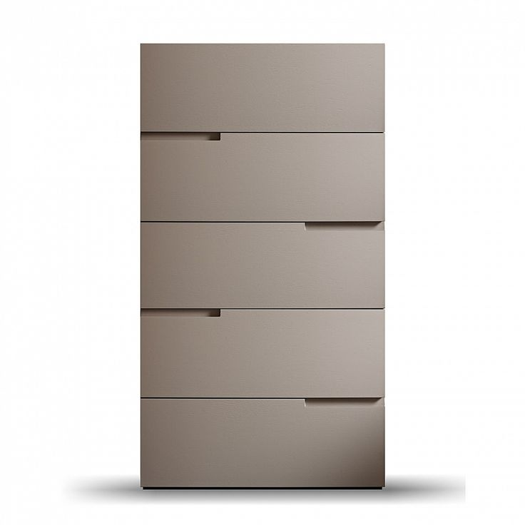 Modern luxury tall chest of 5 drawers 'Fred' by Morassutti