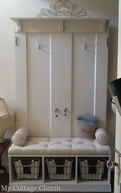 Attractive My Cottage Charm: How To Build A Coat Rack Bench From Old Doors.