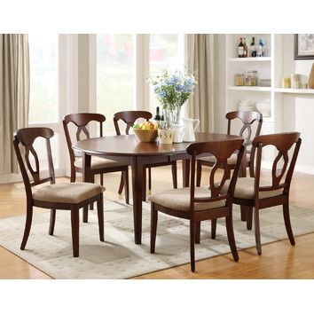 Liam Oval Top Formal Dining Table With Extension Leaf And Drop Leaves By Coaster Width Side To W Height Bottom H Depth Front Back D