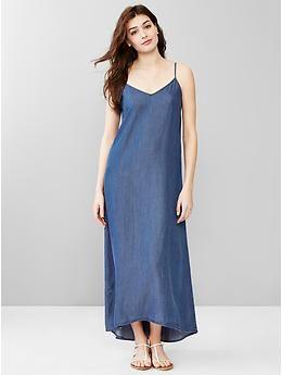 1000  ideas about Denim Maxi Dress on Pinterest  Halter maxi ...
