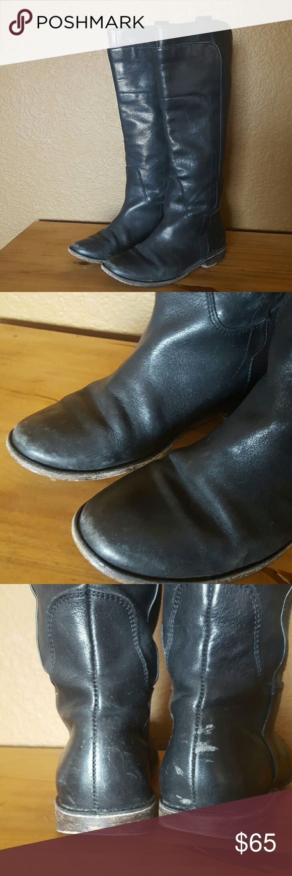 Frye Paige Riding Boots Sz 6. Great condition with wear on heel area. See pic. Frye Shoes Heeled Boots