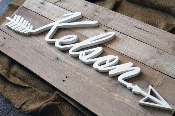 Kelson Reclaimed Wood Arrow Wall Art by CucumberAppleStudio