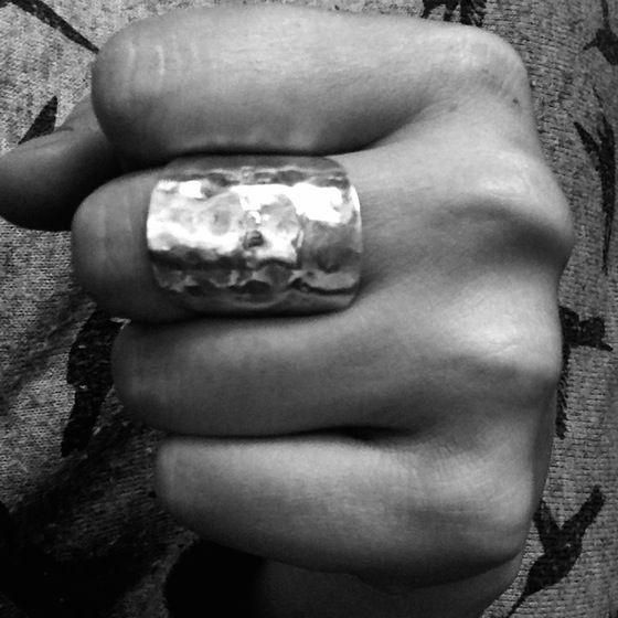 Handmade Cutlery Jewellery - Solid Silver Hammered Spoon Ring  #cutleryjewellery #silverjewellery #bristoluk #ethicaljewellery #handmadejewellery #recycled #solidsilver #bigcartel #vintage #ethics #uniquegifts #cutleryjewellery #handmade #teaspoon #bristoluk #solidsilverjewellery #drumandfifejewellery #nowaste #recycled #givenasecondlife #handmade #ring #necklace #bigcartel #lukh #ethical #win #ethicalfashion #recycleweek #unusualgift #outsidethebox #handmadejewellery #history