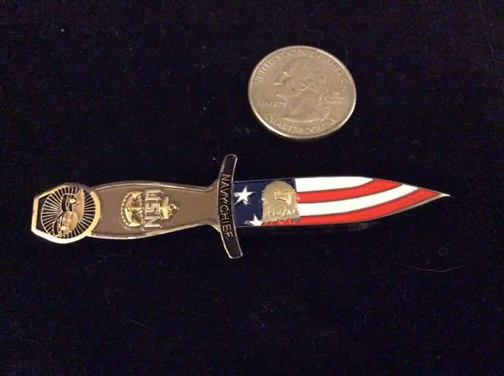 CPO DAGGER Challenge Coin. NAVY CHIEF!! NAVY PRIDE!! Mint!! BAD A$$ COIN!!