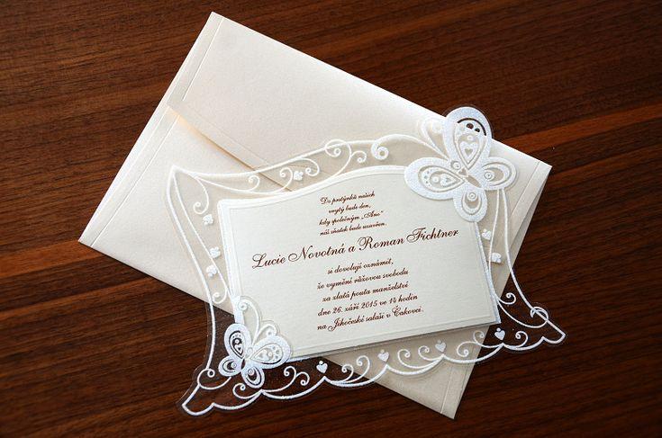 Svatební oznámení 3596 motýli