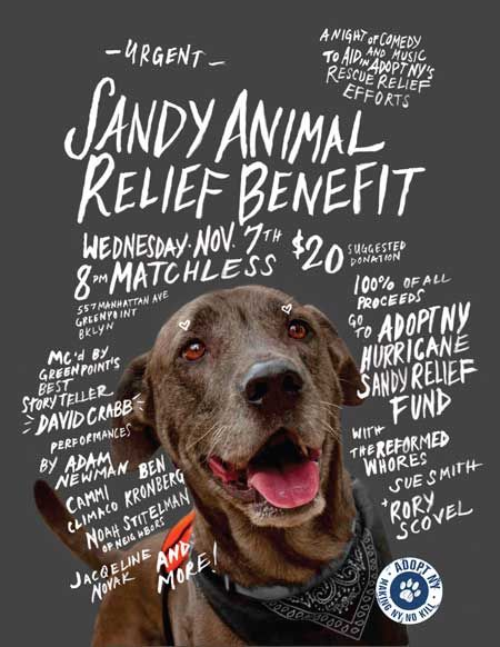 Sandy Animal Relief Benefit credit - Adopt NY