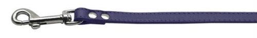 Mirage Pet Products 83-12 34Pr Fashionable Leather Leash Purple .75 in. Wide - http://www.thepuppy.org/mirage-pet-products-83-12-34pr-fashionable-leather-leash-purple-75-in-wide/