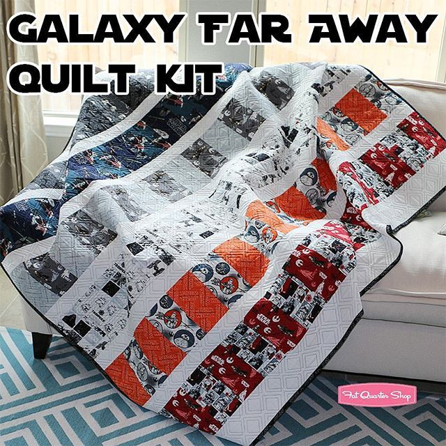 Who's getting ready for the BIG #starwars premiere? Don't forget your matching quilt as well! We still have our Galaxy Far Away quilt kit available at our shop! #fqsfun @camelot_fabrics