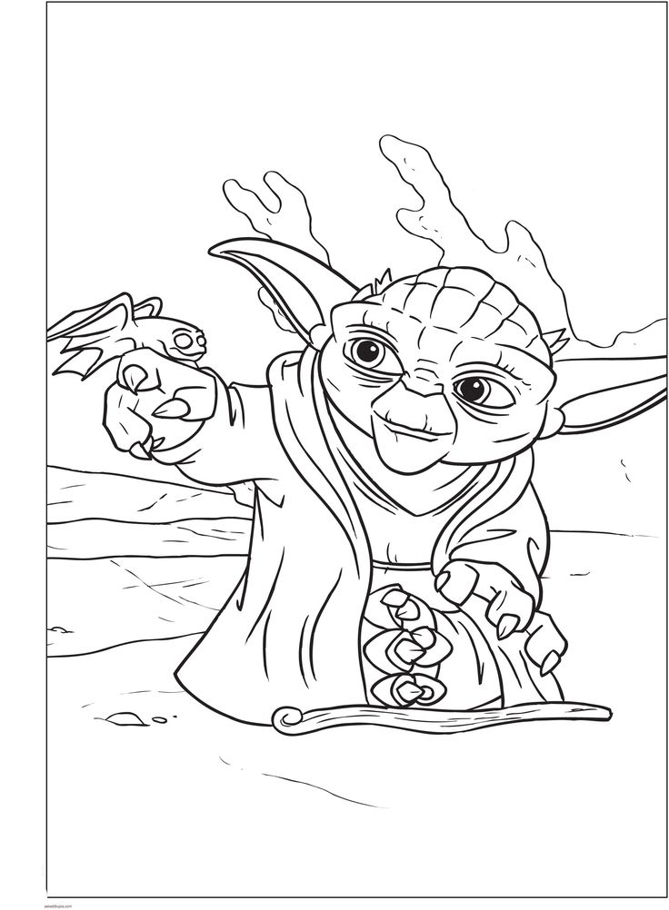 Lego Star Wars Yoda Coloring Pages Wa