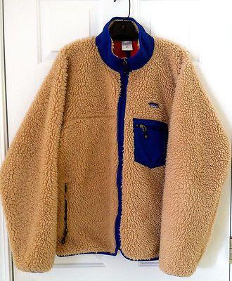 PATAGONIA VINTAGE CLASSIC NATURAL OATMEAL RETRO FLEECE CARDIGAN JKT MENS LARGE L - http://clothing.goshoppins.com/mens-clothes/patagonia-vintage-classic-natural-oatmeal-retro-fleece-cardigan-jkt-mens-large-l/