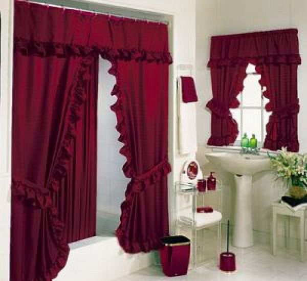Romantic Shower Bathroom #Curtains