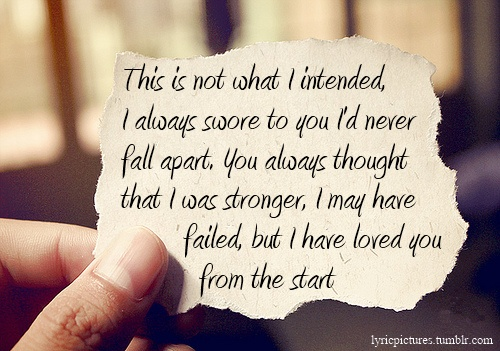 Secondhand Serenade - Fall For You. Love that song so much!