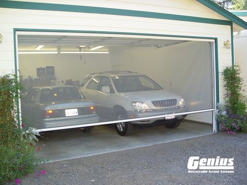 Genius Sierra 800 Pull Down Retractable Screen In 2020 Diy Garage Door Garage Door Design Retractable Screen