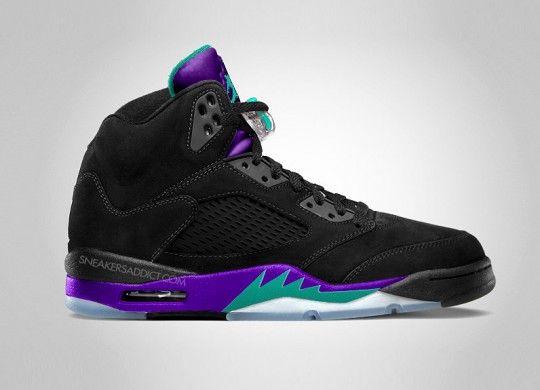 "a20811a054c7ce Air Jordan V Black ""Aqua"" 2013 Find this Pin and more on Jordan s. DS Nike  Air Jordan 5 V Retro Grape white ..."