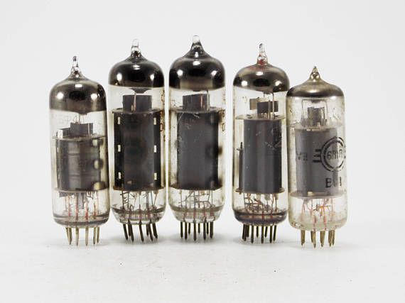 Electron tube vacuum tubes steampunk supplies assemblage