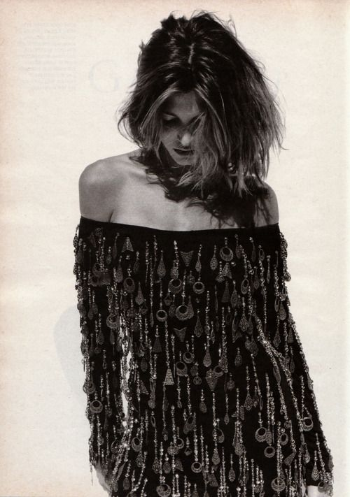 """Stephanie Seymour """"Glamour"""", Marie Claire US, December 1990. #editorial #90s #supers"""