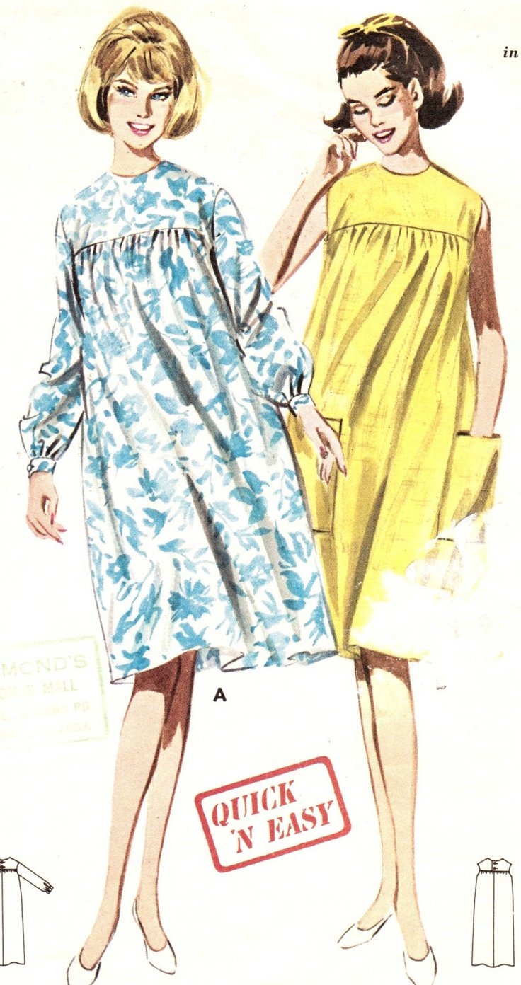 35 best mamma mode genom ren images on pinterest maternity wear vintage 1960s quick and easy maternity dress size 12 butterick 3046 sewing pattern 60s house dress ombrellifo Images