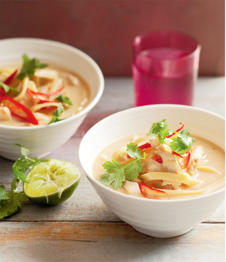 Hearty Asian chicken noodle soup. This chicken soup will make your taste buds sing in this Asian makeover. #Woolworths #recipe #asian http://www.woolworths.com.au/wps/wcm/connect/Website/Woolworths/FreshFoodIdeas/Recipes/Recipes-Content/heartyasianchickennoodlesoup
