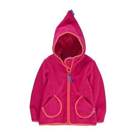Zip-In Fleece Jacket TUNTTUULIA raspberry/fox, Finkid