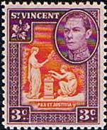 St Vincent 1949 King George VI SG 166 Fine Mint Scott 158 Other St Vincent Stamps HERE