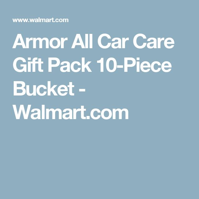 Armor All Car Care Gift Pack 10-Piece Bucket - Walmart.com