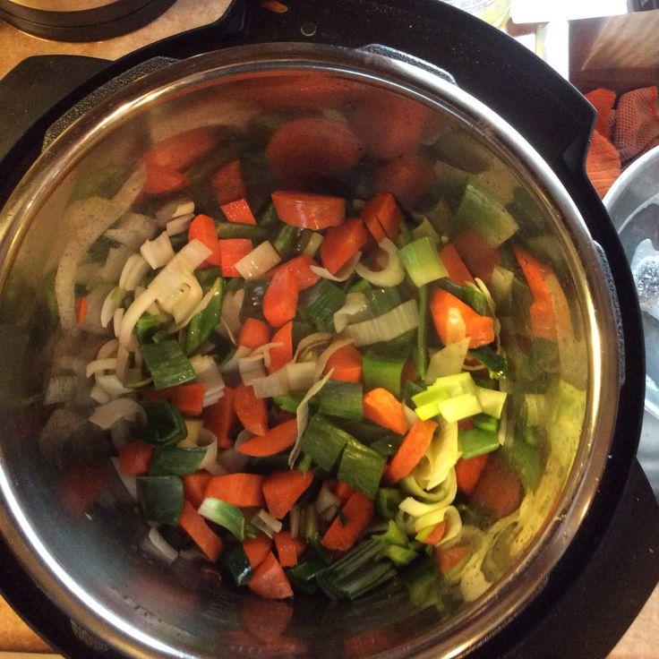 Sauté vegetables