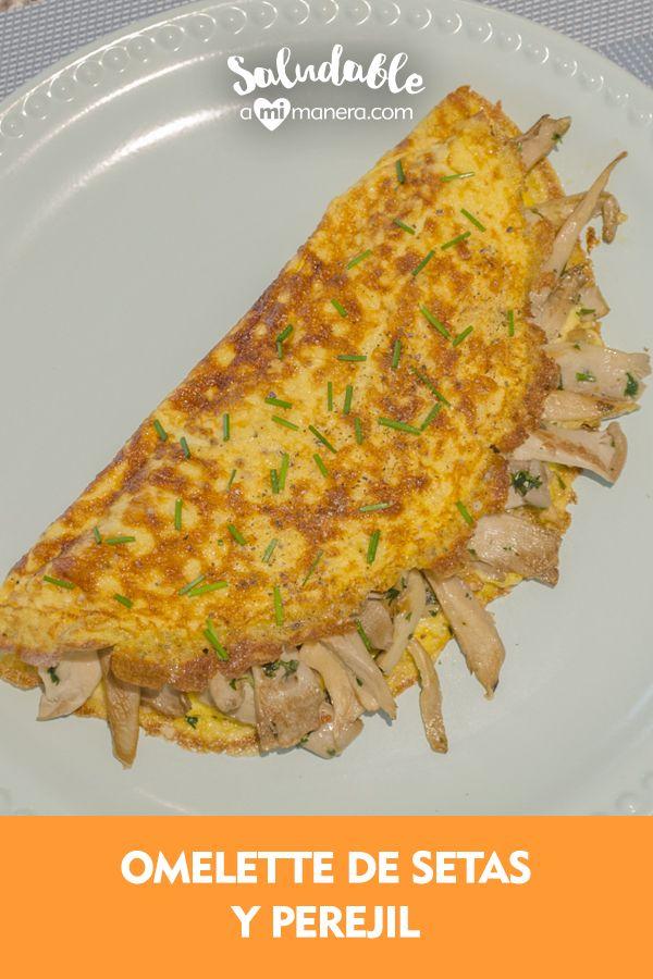 Rompe el aburrimiento en tu desayuno y experimenta con este omelette de setas y perejil que es muy sencillo de preparar, aquí te mostraremos un video y te diremos paso a paso cómo prepararlo. Stuffed Mushrooms, Chicken, Ethnic Recipes, Food, Arrows, Healthy Meal Prep, Deserts, Lunches, Meals