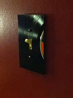 Record light switch plate  http://updownleftrightbastart.blogspot.com