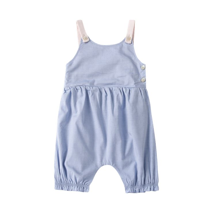 Blue Romper with Pink Lining / The Happyology Artist Collection