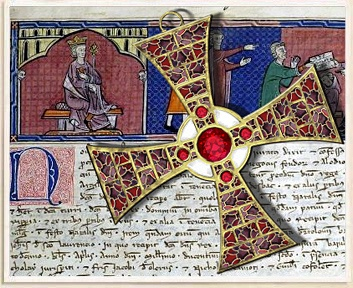 garnet and ruby cross from the Knights Templar, lost 1307, worth many billions