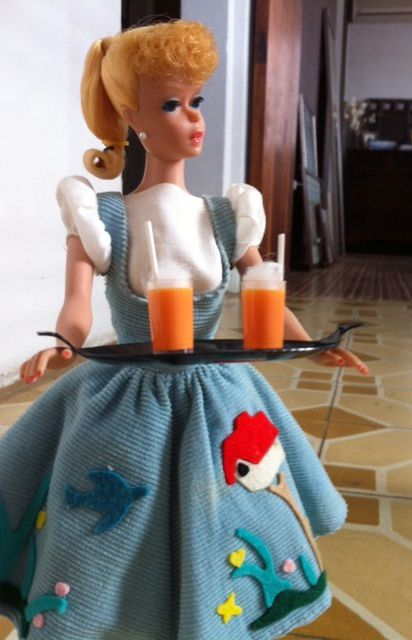 Vintage  Barbie in Friday Night Date  Personally I would never wear this on a date but that's just me.