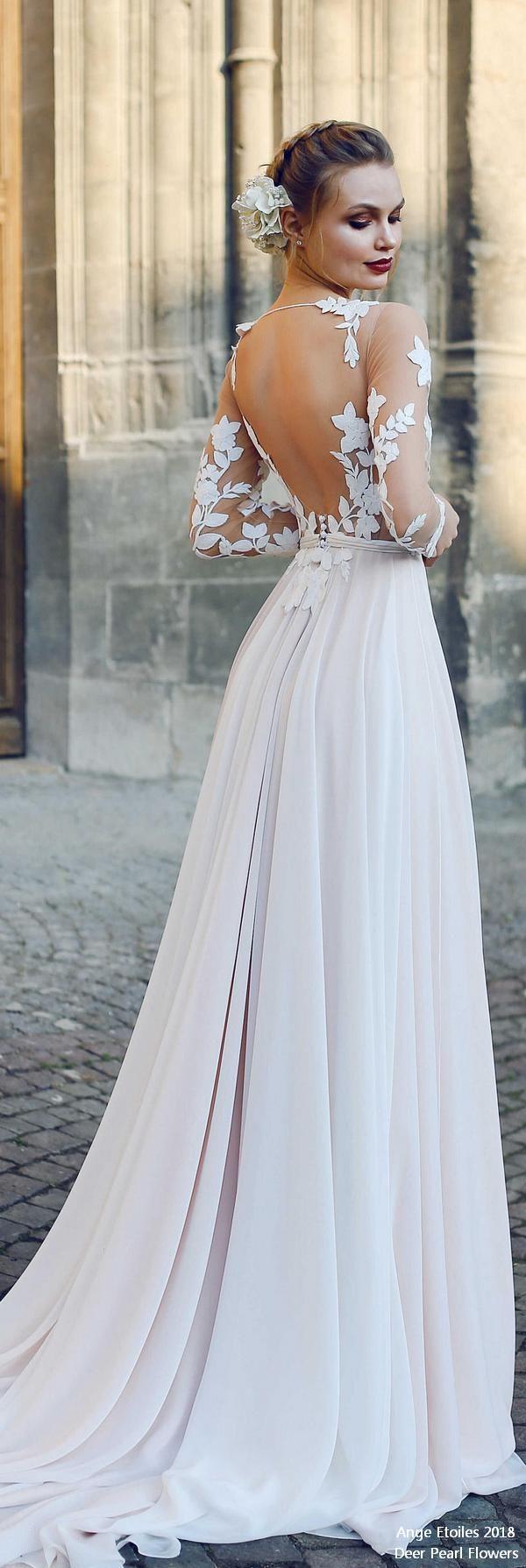 EVA fairy vintage wedding dress ❤️ http://www.deerpearlflowers.com/ange-etoiles-2018-wedding-dresses/ #bridaldress #dress #weddingdress