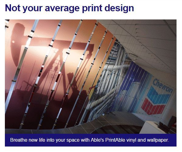 Breathe new life into your space with Able's Print vinyl and wallpaper #printdesign #interiordesign #officespace. Contact sam@able.co.za to discuss your printing requirements.