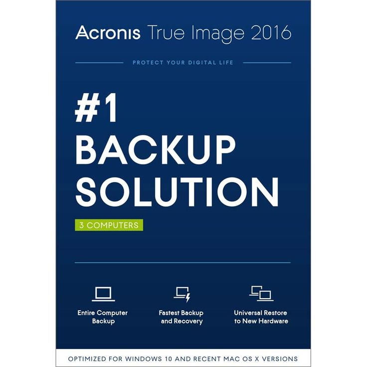 Acronis True Image 2016 for 3 computers at Fry's $9.99 after rebate #LavaHot http://www.lavahotdeals.com/us/cheap/acronis-true-image-2016-3-computers-frys-9/87758