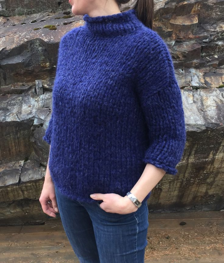 Knitted with 5x Drops Air. Quick knit, fun, warm, cosy . Pattern credits to Drops Design.