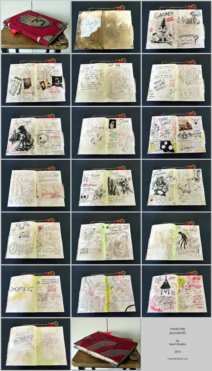 Gravity Falls - journal #3 by KaoKoneko