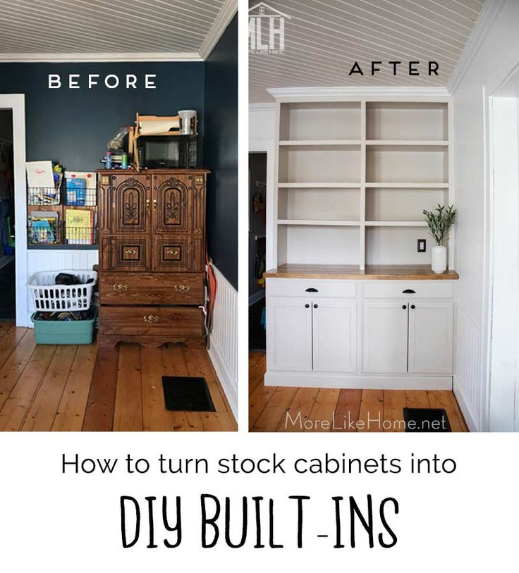 How to turn stock into diy builtins built in