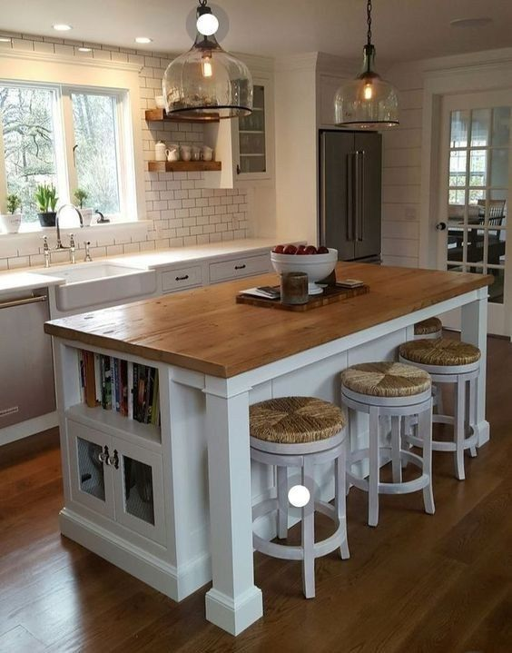 30 great farmhouse kitchen countertops design ideas and decor 08 | maanitech.com