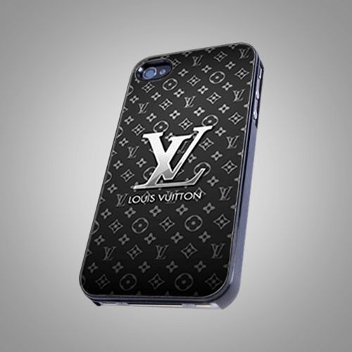 """Louis Vuitton Black Print on Hard Plastic For iPhone 5 Case, Black Case  This case is available for: iPhone 4/4S iPhone 5/5S iPhone 6 4.7"""" screen Samsung Galaxy S4 Samsung Galaxy S5 iPod 4 iPod 5  Ple"""