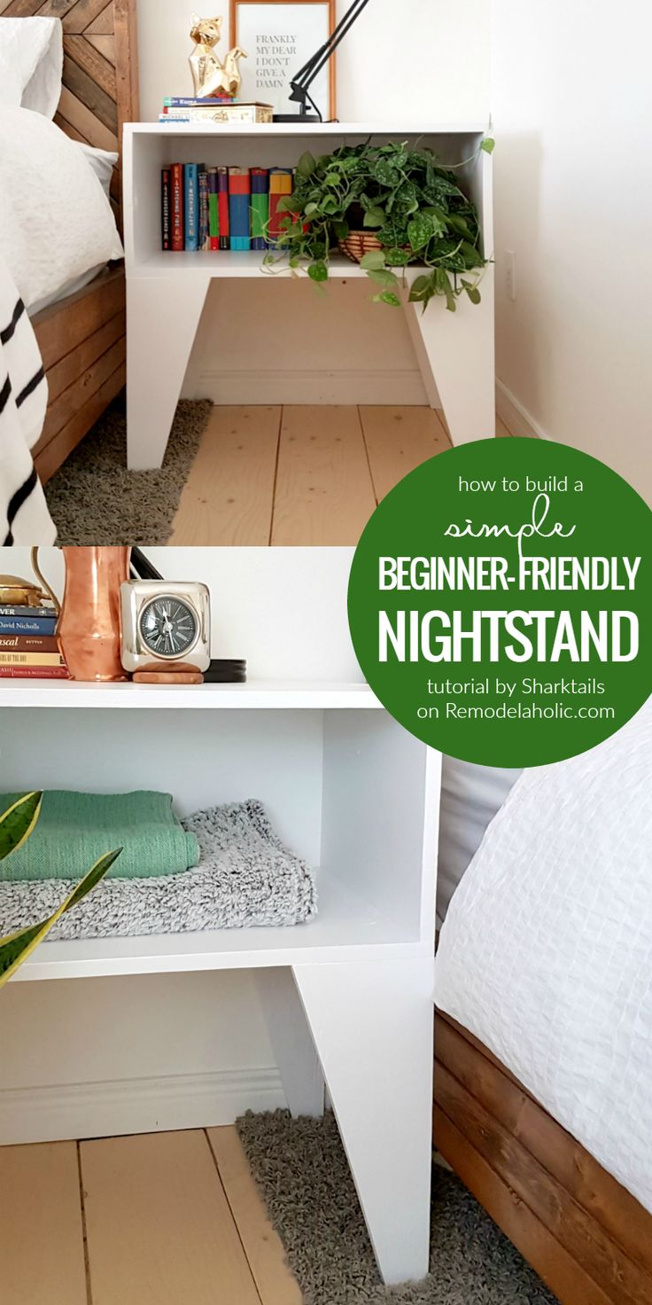 Design homemade dining table plans diy ideas 187 woodplans woodplans - How To Build A Super Easy Nightstand For Beginner Builders