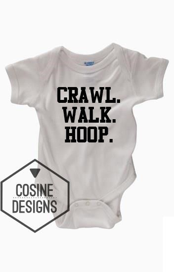 Crawl Walk Hoop Funny Baby Bodysuit - Future Basketball Player - Funny Baby Bodysuits - Funny Baby Clothes - Baby Creeper - Baby Shower Gift by CosineDesigns on Etsy