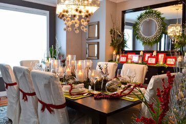 Stunning Traditional Holiday Dining Room | #christmas #xmas #holiday #decorating #decor