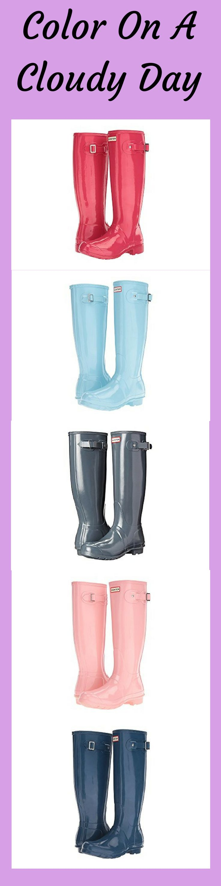 Love the colors! Hunter Original Tall Gloss | Rain Boot | Shoes | Style | Rain Boots | Colorful | Fashion #Sponsored