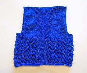 Sweet little baby girl's gilet ~     Bibi - Baby Girl's Gilet            Bibi - Baby Girl's Gilet      DK yarn     4mm needles  ...