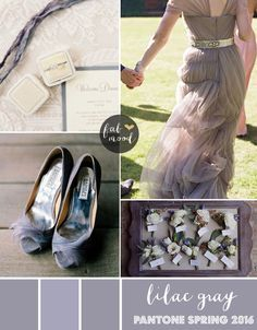 Lilac Gray Wedding Theme { Pantone Spring 2016 } http://www.fabmood.com/lilac-gray-wedding-theme/: