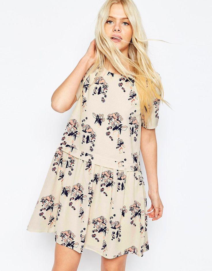 Платье бэби долл с цветочным принтом Y.A.S