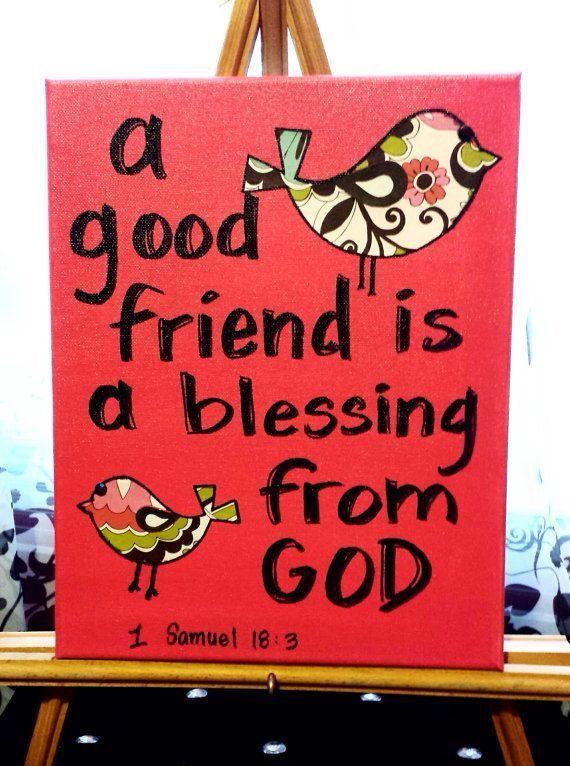 A good friend- Bible Journaling                                                                                                                                                      More