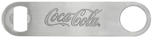 "Tablecraft Coca-Cola Coke Stainless Steel Flat Pocket Bottle Opener ~ The Perfect Bartender's Friend by Tablecraft. $5.95. The perfect bartender's friend. This handy bottle opener slides right into your pocket.. The flat, stainless steel opener will not be bulky in your pocket, a definite must for any bartender. Great for everyday use or for collectors. 7"" long high quality stainless steel. Tablecraft Coca-Cola Coke Stainless Steel Flat Pocket Bottle Opener. Relive the nost..."