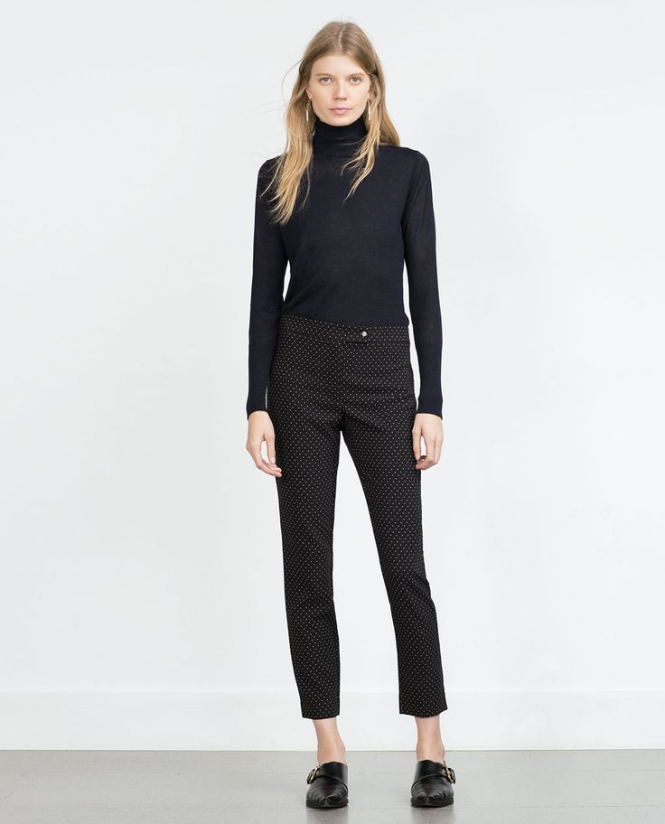 JACQUARD TROUSERS-View all-Trousers-WOMAN-SALE | ZARA United States